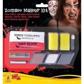 Kit maquillaje zombie latex sangre barras esponja