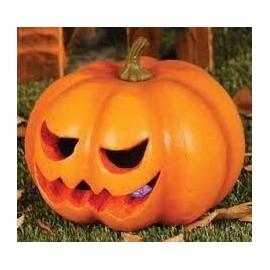 Calabaza con luz 20 cm barata halloween