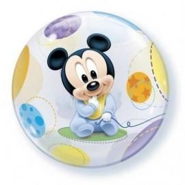 Globo mickey mouse bebe burbuja transparente
