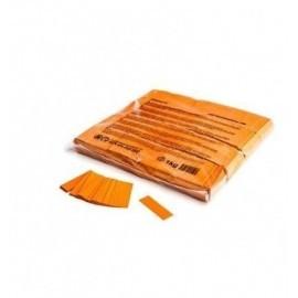 Confeti papel rectangular naranja