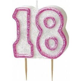 Vela 18 cumpleaños en rosa