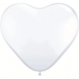 Globos blancos corazon latex 16 50 uds serpentex