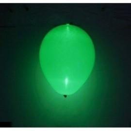 Globos con luz led verdes 5 unidades 30 cm 12