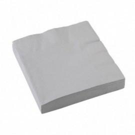 Servilletas color plata 33 x 33 cm 20 unidades