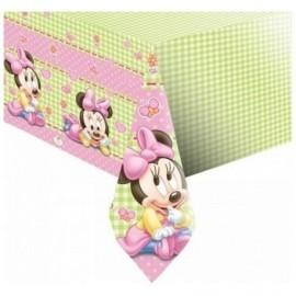 Mantel minnie mouse bebe rosa 120 x 180 cm