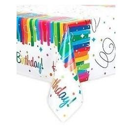 Mantel arcoiris cumpleaños 54x84 cm