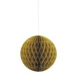 Bola colgante decorativa color oro 20 cm