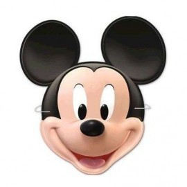 Caretas carton mickey mouse 6 uds