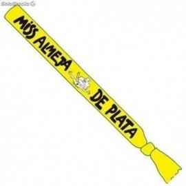 Banda miss almeja de plata amarilla