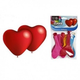 Globos corazon latex colores surtidos 80 cm perimetro