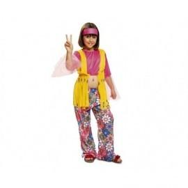 Disfraz de hippie para niña talla 3-4 años