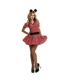 Disfraz de ratoncita sexy talla s vestido lunares