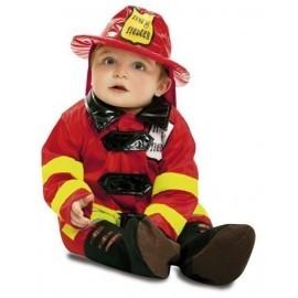 Disfraz de bombero para bebe talla 0 a 6 meses