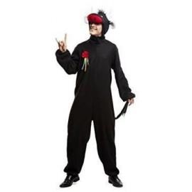 Disfraz de toro negro para hombre talla ml