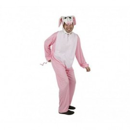 Disfraz de cerdo rosa talla xl para hombre
