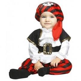 Disfraz de pirata bebe talla 0 a 6 meses