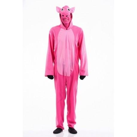 Disfraz de cerdito rosa para hombre talla m/l papa pig