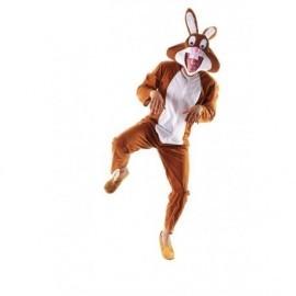Disfraz de conejo marron de la suerte para hombre talla m/l