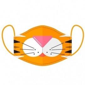 Mascarilla reusable infantil tigre