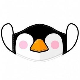 Mascarilla reusable infantil pingüino