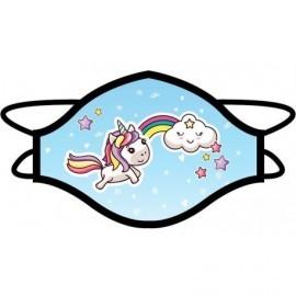 Mascarilla higienica unicornio infantil