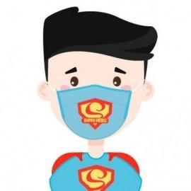 Mascarilla Filtro Carbon Superheroe infantil