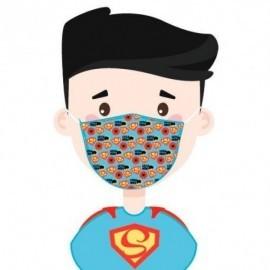 Mascarilla Filtro Carbon Superheroes infantil
