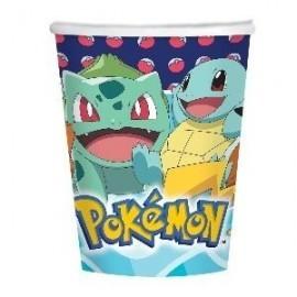 Vasos cumpleaños Pokemon 8 uds