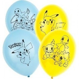 Globos Pokemon 6 uds