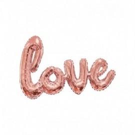 Globo Love rosa dorado XL 96 cm