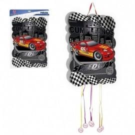 Piñata carreras F1 feliz cumpleaños 35x50 cm