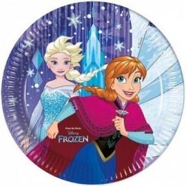 Platos cumpleaños Frozen 8 uds 23 cm