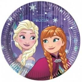 Platos cumpleaños Frozen 8 uds 20 cm