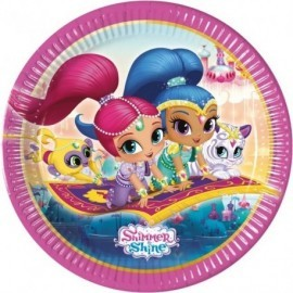 Platos Shimmer and shine 8 uds 23 cm