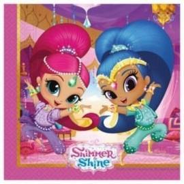 Servilletas Shimmer and Shine 20 uds cumpleaños