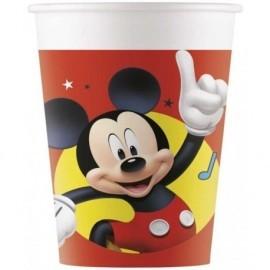 Vasos cumpleaños Mickey Mouse 8 uds