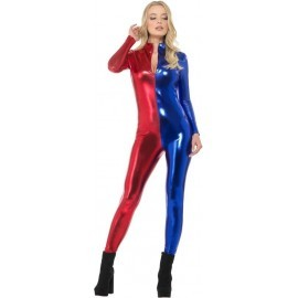 Mono azul y rojo para mujer similar Harley talla L