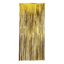 Cortina metalizada oro 100x240 cm