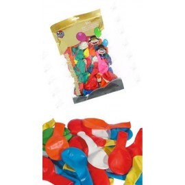 Bolsa de 100 Globo baratos 23 cm surtido colores