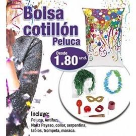 Bolsa de cotillon con peluca 10 uds