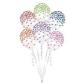 Globo baratos transparentes confetti colores surtidos 6 uds