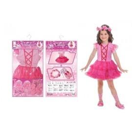 Disfraz barato bailarina rosa para niña 3-6 años