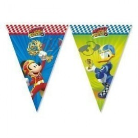 Banderin triangular mickey y los superpilotos 230 cm