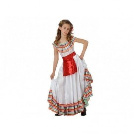 Disfraz barato de mejicana para niña talla 10-12 años