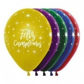 Globo barato feliz cumpleaños duo 8 uds 30 cm
