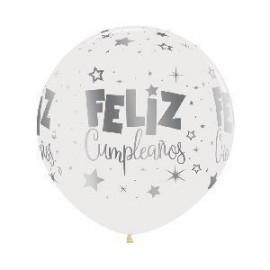 Globo barato feliz cumpleaños tinta metal 60 cm
