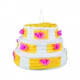Piñata tarta de cumpleaños para romper 28 x 40 cm