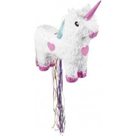Piñata unicornio blanco 47 x 39 cm cumpleaños