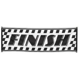 Bandera carrera de coches formula 1 74 x 220 cm