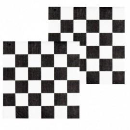 Servilletas negras a cuadros formula 1 12 uds